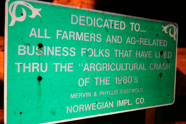 Agricultural Crash Monument - a roadside attraction in Norway, Illinois