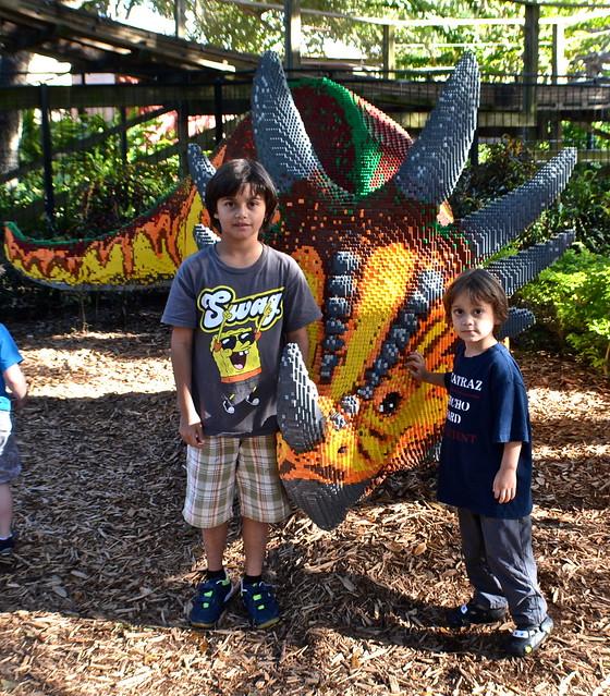 Legoland, Florida -- dino art