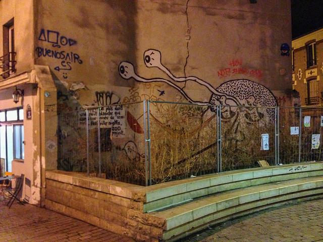 Paris Street Art at Night