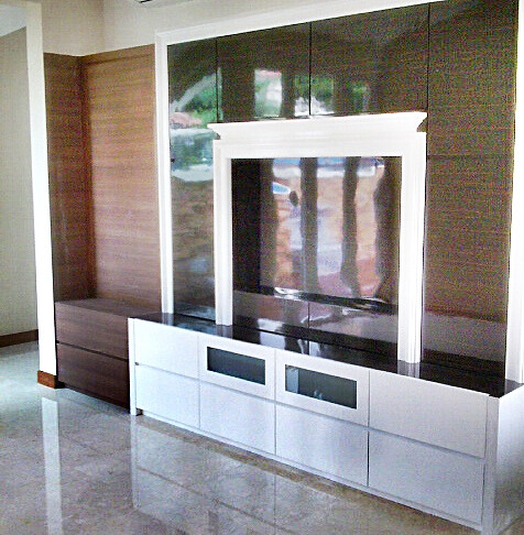 singapore design renovation custom made tv console