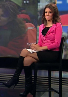 UW: And as long as you can see the boots, do you prefer to see your booted  newswomen sitting or standing?
