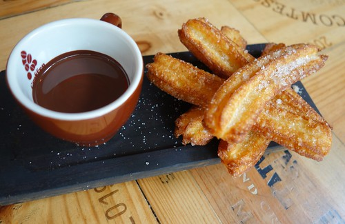 Churros con Chocolat - Bomba Paella Bar, Singapore