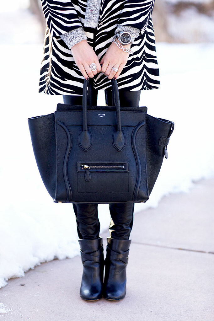 black-celine-luggage-tote