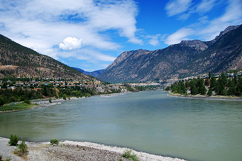 Fraser River in Lillooet in Gold Country, Cariboo, British Columbia
