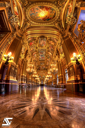 Le grand foyer @ Opéra Garnier