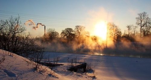 winter mist snow ontario london ice thames sunrise canon river dock 60d