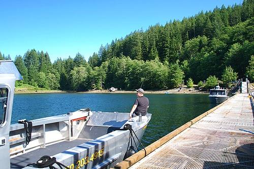 Granite Bay Public Dock, Quadra Island, Discovery Islands, British Columbia, Canada