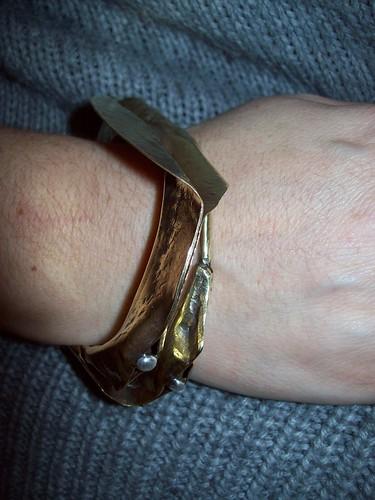 F.F. brass/silver bracelet by marco_magro