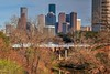 Houston Skyline and Waugh Bridge by J-a-x