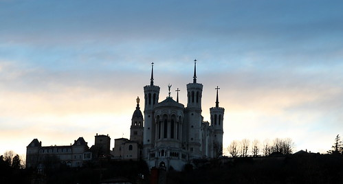 Basilica of Fourvière at dusk