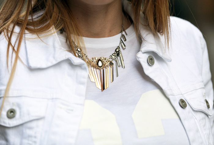street style barbara crespo white denim jacket cyprea.es fashion blogger outfit blog de moda