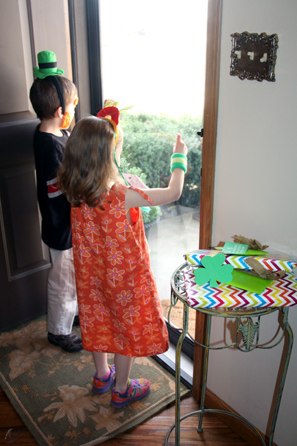 Kids-by-the-door-putting-clings-on