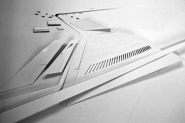 Model of Strasbourg Hoenheim tram station by Zaha Hadid