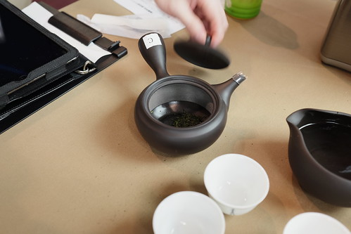 tea leaves in a pot