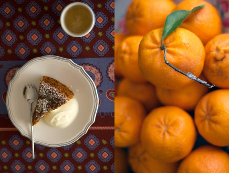 Bolo de laranja e amêndoa