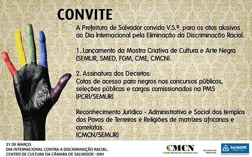 Convite by Biblioteca Abdias Nascimento