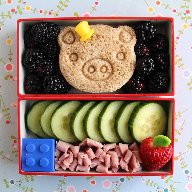 Preschooler Sophisticated Pig Bento #614