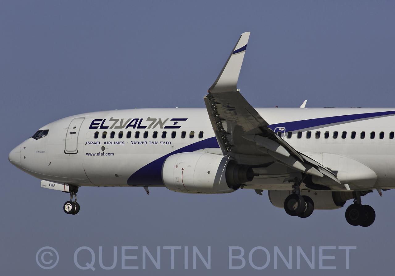 El Al Israel Airlines Boeing 737-8HX (WL) 4X-EKF