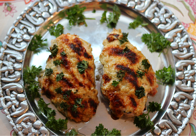 chicken baked with babaganoush