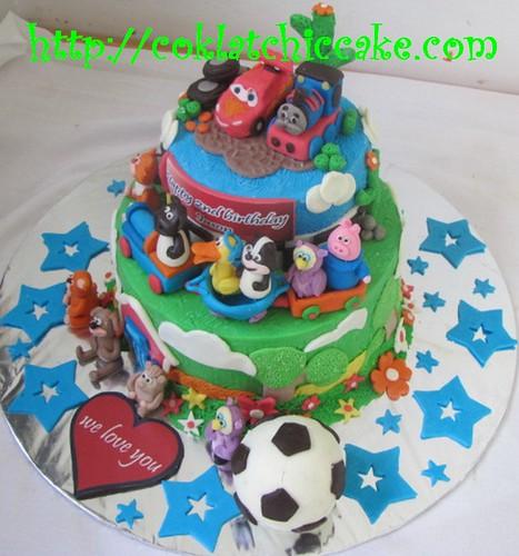 Kue ulang tahun Cars, Thomas dan timmy time
