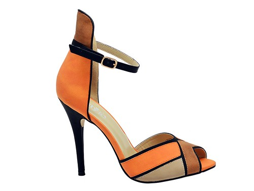 Orange High Formal sandal (1)