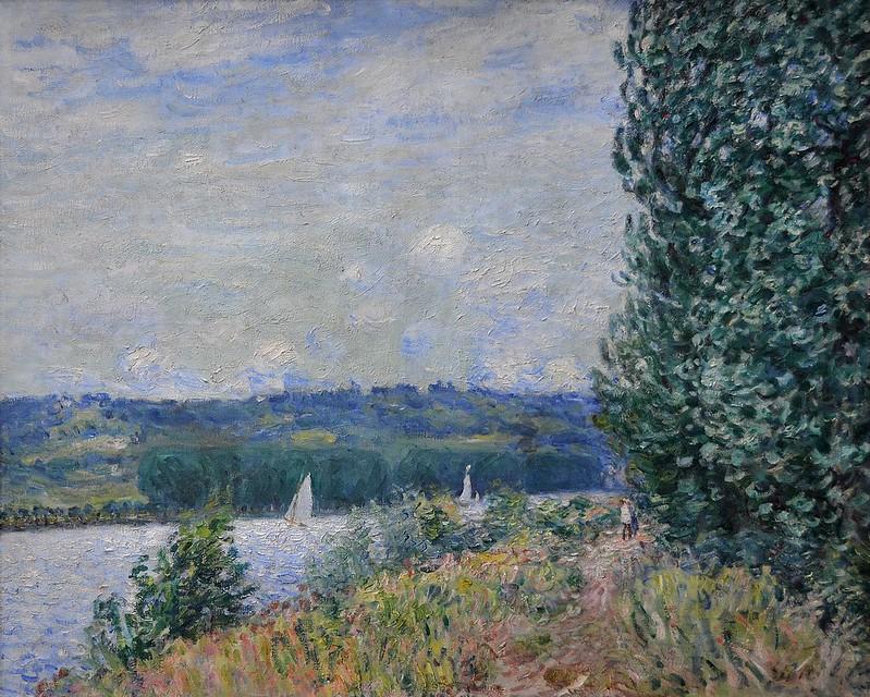 """Rouen (Seine-Maritime) - Musée des Beaux-Arts - """"La Seine à la Bouille, coup de vent"""" (Alfred Sisley, 1839-1899)"""