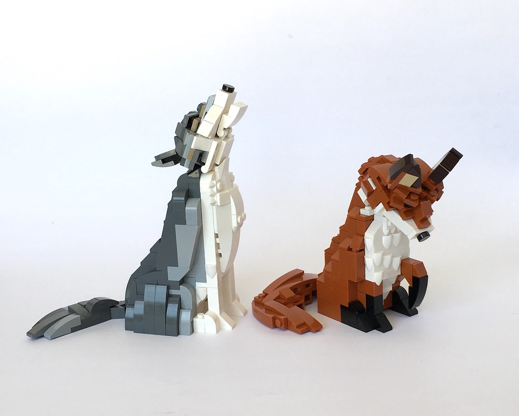 Canidae Family (custom built Lego model)