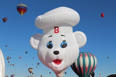 There was a Bimbo Bread bear balloon at the Fiesta in Albuquerque New Mexico