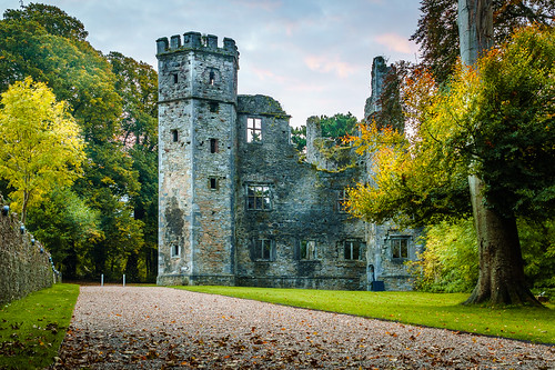 mallow castle ruin sunrise autumn fall cork ireland