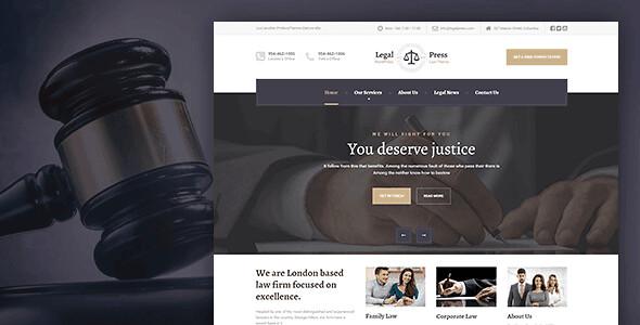 LegalPress WordPress Theme free download