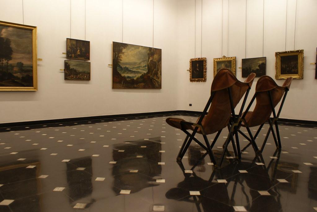 Salle d'exposition d'un des Musei di Strada Nuova à Gênes.