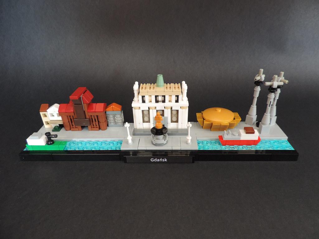 Gdańsk – Skyline (custom built Lego model)