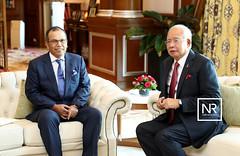 Kunjungan hormat oleh YAA Tan Sri MD RAUS SHARIF,Ketua Hakim Negara.PMO,10/4/17