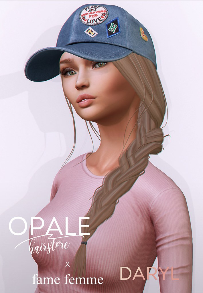 Opale x fame femme . Daryl Hair & Cap @ The Seasons Story April 2017 - SecondLifeHub.com