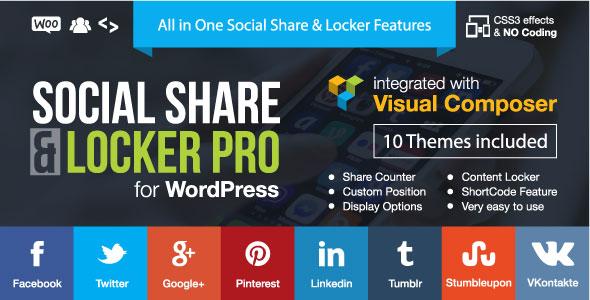 Social Share & Locker Pro Wordpress Plugin v7.2