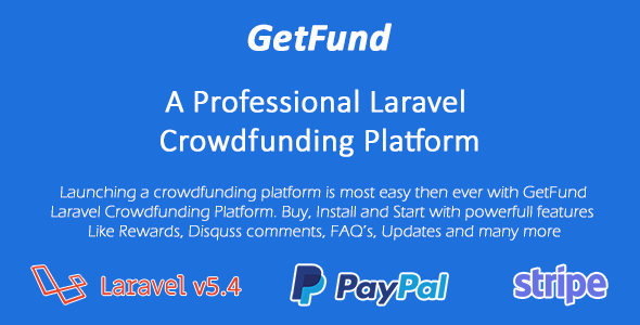 GetFund v1.0 - A Professional Laravel Crowdfunding Platform
