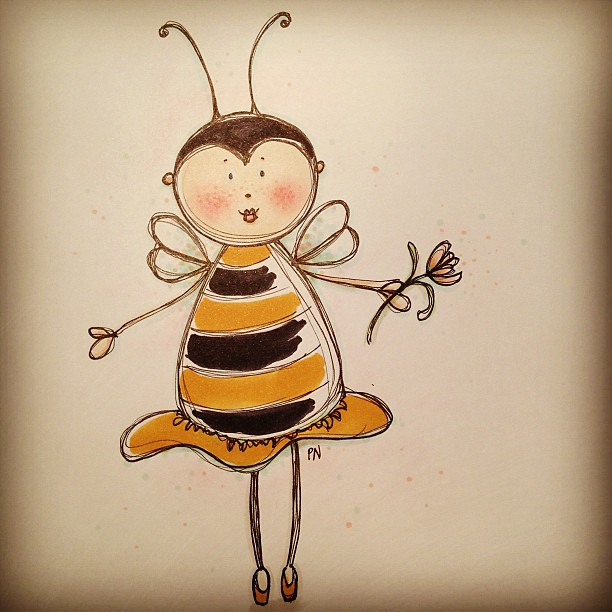 Sweet bumblebee cutie #skiss #sketch #sillylittlethings #a… | Flickr