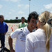 Takuma Sato all smiles after go-kart event in Houston