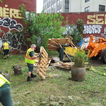 Thu, 05/23/2013 - 9:11am - 5/22/13 --  NYC Bulldozes Time's Up / Nothing Yet Community Garden one day after announcing it was sold to developer (Photos by Time's Up; Creative Commons rules apply, please use responsibly)