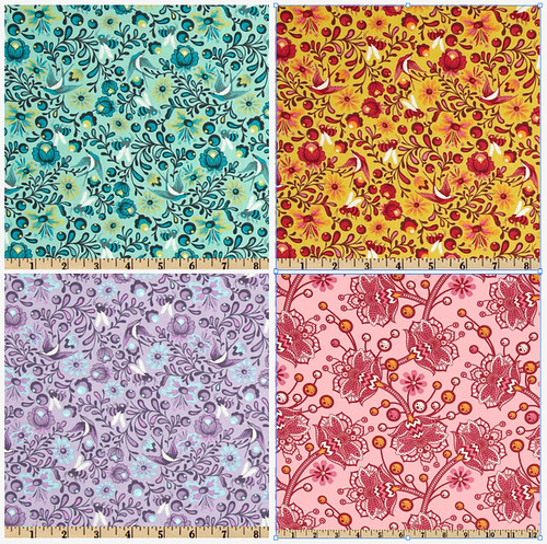 Tula Pink charm swap fabrics