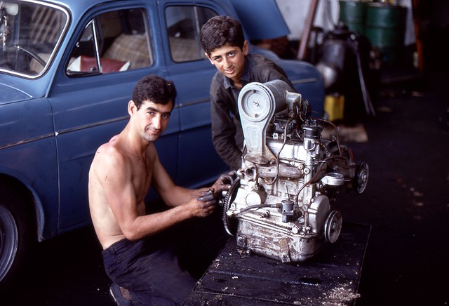 Repairs, Thessaloniki, Greece, 1969