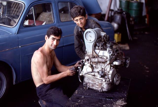 Repairs, Thessaloniki, Greece, 1969