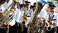 musician, tuba, saxophone, musical ensemble, musical instrument, music, jazz, brass instrument, social group,