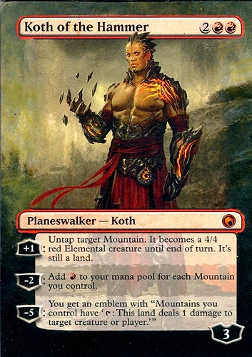 Koth of the Hammer Altered Art Magic the Gathering altered card art mtg koth of the hammer altered