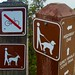California State Parks dog signs