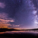 Milky way over Lake Cuyamaca,CA by It was the light, it was the angle