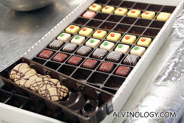 Beautiful hand-made chocolates