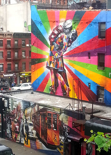 Colorful Kiss in NYC