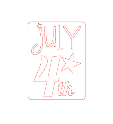 Free Silhouette Cut July 4th
