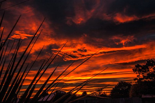 Sunset over Pareora